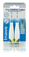 Inava Brossettes Tri Compact étroit  012 Noir 0,6mm/ Bleu 0,8mm/ Jaune 1mm à Arcachon