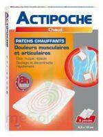 Actipoche Patch Chauffant Douleurs Musculaires B/2 à Arcachon