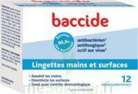 Baccide Lingette Désinfectante Mains & Surface 12 Pochettes à Arcachon